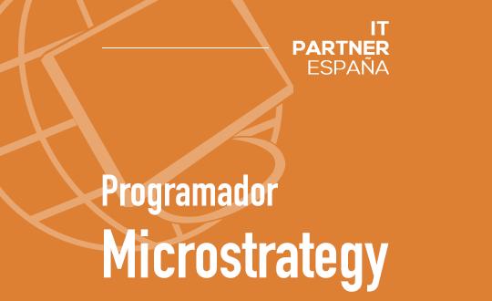 Programador Microstrategy (H/M) – Madrid.